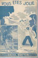 CHARLES TRENET   -  VOUS ETES JOLIE - éditions  RAOUL BRETON  ( PARTITION ) NARBONNE - Musique & Instruments