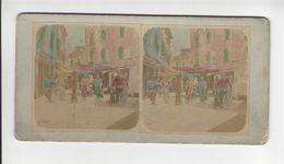 VENEZIA PESCHERIA PHOTO STEREO CIRCA 1870 1880 /FREE SHIPPING R - Fotos Estereoscópicas