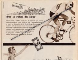 Ancienne Publicité (1959) : ASPRO, Sur La Route Du Tour De France, Sur La Route Des Vacances, Hélicoptère (3 Scans) - Pubblicitari