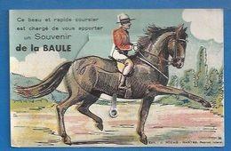 44 - LA BAULE - CARTE SYSTÈME - DÉPLIANT- CAVALIER - NOZAIS 36 - CLICHÉ RARE - La Baule-Escoublac