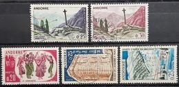 ANDORRE FRANCAIS - Lot 5 Timbres N°158-159-166-174-175 - Oblitérés (o) - Usati