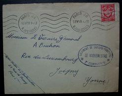 Régiment De Sapeurs-pompiers 2e Compagnie 1959 Paris 28 Lettre En Franchise Militaire Pour Joigny - Postmark Collection (Covers)