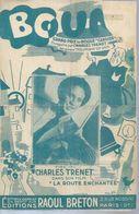 CHARLES TRENET   -  BOUM - éditions  RAOUL BRETON  ( PARTITION ) NARBONNE - Musique & Instruments