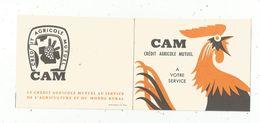 JC , CALENDRIER PETIT FORMAT , Crédit Agricole Mutuel , 1962 , CAM , 2 Scans - Tamaño Pequeño : 1961-70