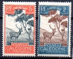 Nouvelle Caledonie: Yvert Taxe N°26 Et 28*; Cerf - Postage Due