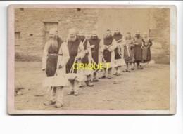 Photo Cdv Grand Format, Groupe De Moines Trappistes Partant Au Travail Des Champs, Rateaux En Bois, Beau Document - Photos