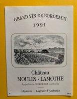 11519 - Château Moulin-Lamothe 1991 - Bordeaux