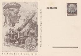 France Alsace Entier Postal Illustré Guerre - Alsace Lorraine