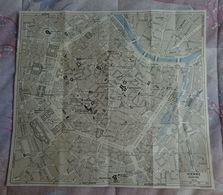 CARTE PLAN 1957 AUTRICHE VIENNE CENTRE VILLE - 30 X 33 Cm - KARTE 1957 ÖSTERREICH VIENNA STADTZENTRUM - Topographical Maps