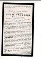 DP 10758 - DOODSPRENTJE VAN VICTOR VAN DAMME BURGEMEESTER VAN GRAMMENE - GRAMMENE 1855 + VYNCKT 1918 - Images Religieuses
