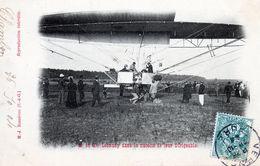 Mr & Mme Lebaudy Dans La Nacelle De Leur DIRIGEABLE - Zeppeline