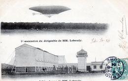 MOISSON   L'aérodrome De M Et Mme  Lebaudy Et Leur DIRIGEABLE - Aeronaves
