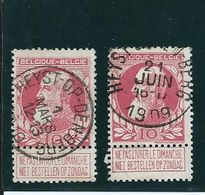 OCB 74 - Afstempeling  HEYST-OP-DEN-BERG Klein En Groot Lettertype - 1905 Barba Grossa