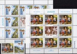 Europa 1995 Jugoslawien 2712/3+Kleinbogen ** 56€ Berge Geier Frieden Dreirad S/s Bloc Sheetlets CEPT Bf JUGOSLAVIJA - Europa-CEPT
