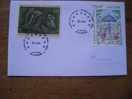2014 La Baule Hombourg Jumelage 30 Ans, Peynet Amoureux Cratère De Vix Chevaux - Marcophilie (Lettres)