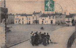 """¤¤    -   LES ESSARTS    -    La Grande Place  -   Epicerie , Mercerie """" RIVIERE """"  -  Horticulteur """" Joseph MARMIN """" - Les Essarts"""