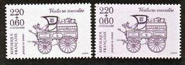 France 2525 Journée Du Timbre  Variété Violet Fluo Papier Violacé  Et Normal  Neuf ** TB MNH - Varietà: 1980-89 Nuovi