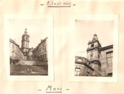 2x Foto Photo (7x10cm) Mons 1949 - Mons