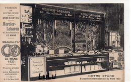 DEPT 72 : Le Mans Fabrique De Coutellerie Mercier Lebaron 46 Rue Gambetta , Notre Stand Exposition Internationale 1923 - Le Mans