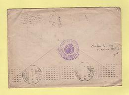 Chambon (en Arrivee) - Paris XIX - Av Jean Jaures - 1914 - Marcophilie (Lettres)