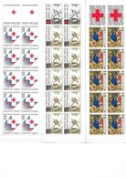"""Carnets (3) Neufs """"Croix Rouge"""" 1987-88-89 - Rode Kruis"""