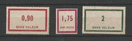 FRANCE 1935 Fictifs N° 40 41 42 - Fictifs
