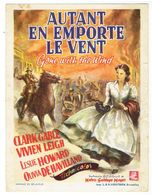 Affichette Film Gone With The Wind - Clark Gable - Vivien Leigh - Palais Du Cinema Metropole Bruxelles - Affiches & Posters