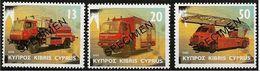 Cipro/Chypre/Cyprus: Specimen, Veicoli Dei Pompieri, Camions De Pompiers, Fire Trucks - Brandweer