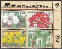 UNO-Genf, 1996, 288/91, MNH **, Gefährdete Arten (IV): Flora. - Nuevos