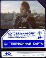 Used Phone Cards Russia Astrakhan Urmet - Girl On Phone 10 ED. - Rusland