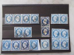 FRANCE Lot Du  N° 14  Variés Et Très Beaux - 1853-1860 Napoléon III