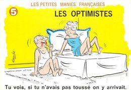 ILLUSTRATEUR ALEXANDRE - HUMOUR LES PETITES MANIES FRANCAISE - LES OPTIMISTES - Phantasie