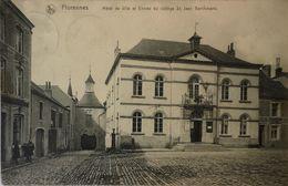 Florennes // Hotel De Ville Et Entree Du College St. Jeab Berchmans 1913 Vlek - Florennes