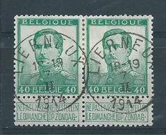 OCB 121 In Paar - Afstempeling LIERNEUX - COBA 2x8 - 1912 Pellens