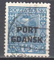 Poland Port Gdansk 1930 Danzig - Mi.24 - Used - Gestempelt - 1919-1939 Republic
