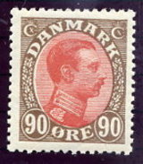 DENMARK 1920 King Christian X Definitive 90 Øre MNH / ** .  Michel 108 - Nuovi