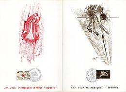 """"""" 1972 : ANNEE OLYMPIQUE """" Sur Encart 1er Jour 4 Pages Parfait état. FDC - Other"""