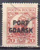 Poland Port Gdansk 1924 Danzig - Mi.18 - Used - Gestempelt - Sonstige