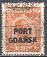 Poland Port Gdansk 1928 Danzig - Mi.19 - Used - Gestempelt - Other