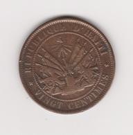 20 CENTIMES 1863 FABRE GEFFRARD BRONZE - Haïti
