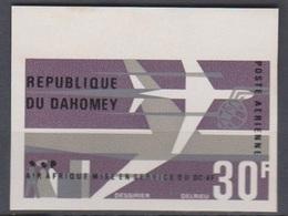 Dahomey 1966  N° PA 46 Mise En Service DC 8F Imperf ND MNH - Benin - Dahomey (1960-...)