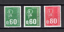 FRANCE  N° 1814 à 1816    NEUFS SANS CHARNIERE  COTE 8.40€    MARIANNE DE BEQUET - 1971-76 Maríanne De Béquet