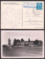 Köthen über Märkisch-Buchholz Postst.-St. Fotokarte FDGB-Ferienheim Bei Köthener Schlößchen 18.1.56 - DDR