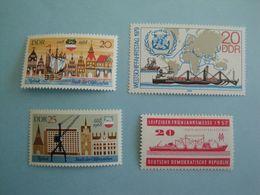Bateaux RDA  Yv 284-1080-1081-2072  ** MNH Michel 559-1384-1385-2405  Ships - [6] République Démocratique
