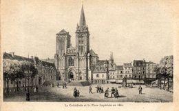 - 14 - LISIEUX. - La Cathédrale Et La Place Impériale En 1860 - - Lisieux