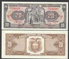 ECUADOR  : 20 Sucres - P121a  - 1988 - UNC - Ecuador