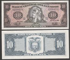 ECUADOR  : 10 Sucres - P121  - 1988 - UNC - Ecuador