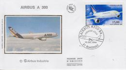 Enveloppe  FDC  1er  Jour   FRANCE   Avion :   AIRBUS   A 300   BLAGNAC   1999 - 1990-1999