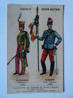 NA - Chromo Chromos Chocolat GUERIN BOUTRON Costumes Hussard Officier Porte étendard - Guerin Boutron