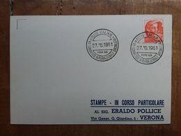 REPUBBLICA - Marcofilia - Congresso Internazionale Socialista + Spese Postali - F.D.C.